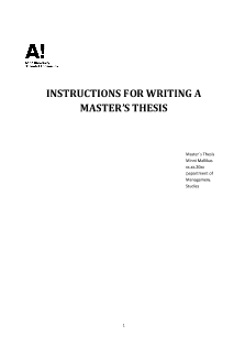 aalto masters thesis word template